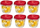 Rubbermaid Easy Find Lid Square 1/2-Cup Food Storage Container, 6...