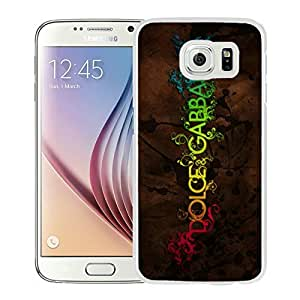 Fahionable Custom Designed Samsung Galaxy S6 Cover Case With Dolce Gabbana 9 White Phone Case