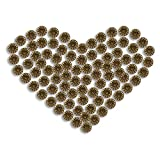 FUCAS Upholstery Tacks Furniture Nails Pins 150pcs (Antique Brass Daisy)