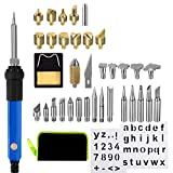 Levanco 37Pcs Wood Iron Burning Kit 60W Multifunctional Temperature Adjustable(200 – 450 °C) Soldering Pyrography Pen Kit for Engraving Sculpture Gift and Welding Repair