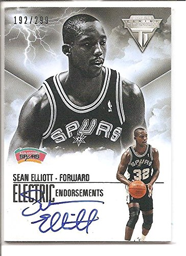 Sean Elliott San Antonio Spurs 2013-14 Panini Titanium Electric Endorsements Autograph Basketball Card #192/299