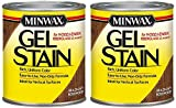 Minwax 260804444 Interior Wood Gel Stain, 1/2 Pint, Brazilian Rosewood - 2 Pack