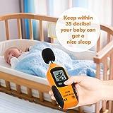 Proster Noise Meters Mini Digital Sound Level Noise Meter 40dBA-130dBA Decibel Pressure Monitor DB Tester Measure