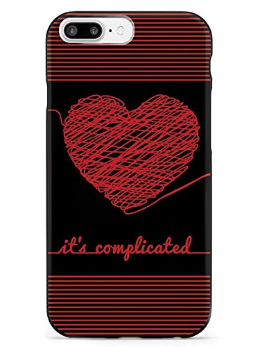 Inspired Cases Chaos Doodle Heart - It's Complicated - Black Case - Apple iPhone 8 Plus