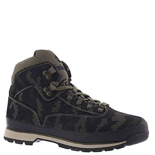 (Timberland Men's Euro Hiker Fabric Black/Camo Fabric 7 D US )