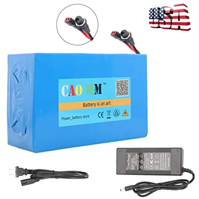 CAO MM ebike Battery, 36V 20Ah Lithium ion Battery 1000W Electric Bicycle Bike E-Scooter Battery Charger Pack : Sports & Outdoors