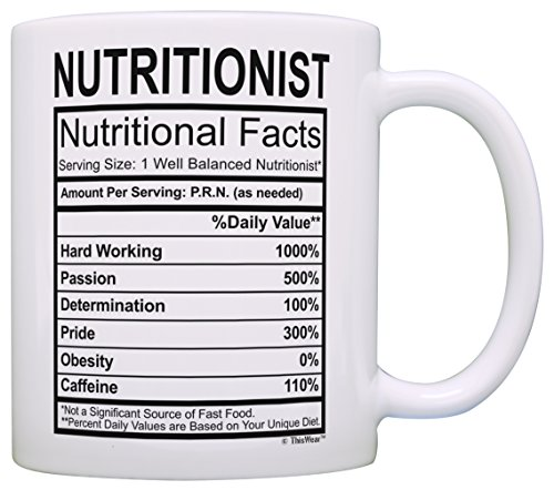 Registered Nutritionist Gifts for Women Nutritionist Nutritional Facts Nutritionist Graduation Gift Ideas Gift Coffee Mug Tea Cup White ()