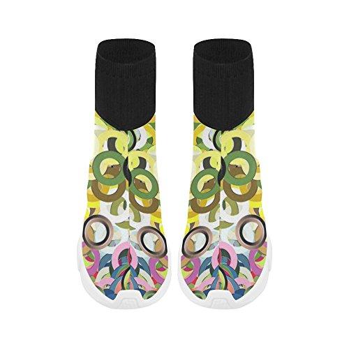 LEINTEREST pattern Unicorn Stretch Sock Shoes for Women 9jnVHR