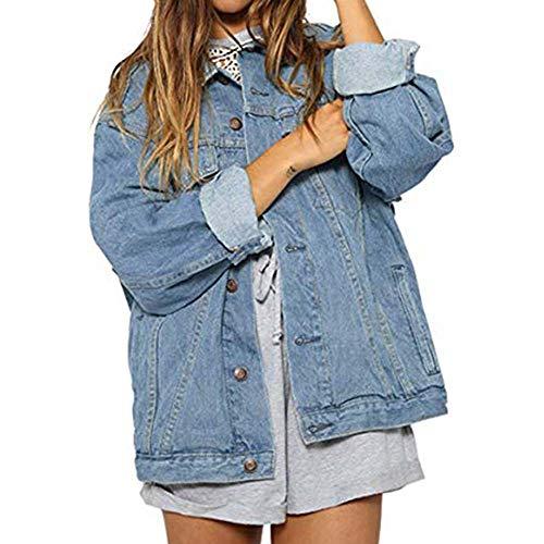 Manica Cappotto Chiaro Coreana L Donna Jean Outwear Classico Giacca Donna Jeans Taglie Blu Rlwqlfs Di M Fit Forti Lunga wqxAR81