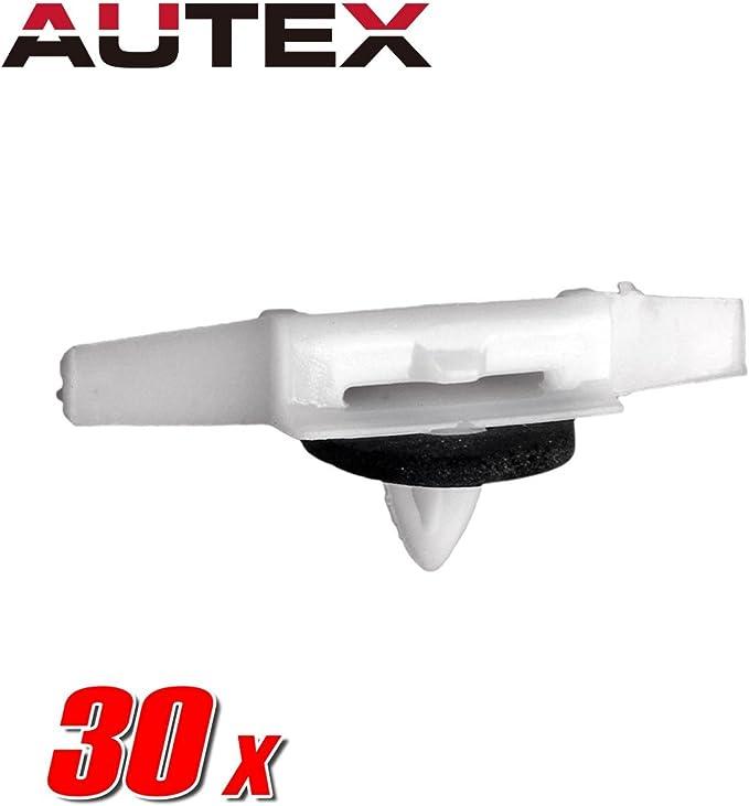 30pcs Drip Rail Moulding Plastic Push Retainer Rivet for 1992-2005 Honda Civic