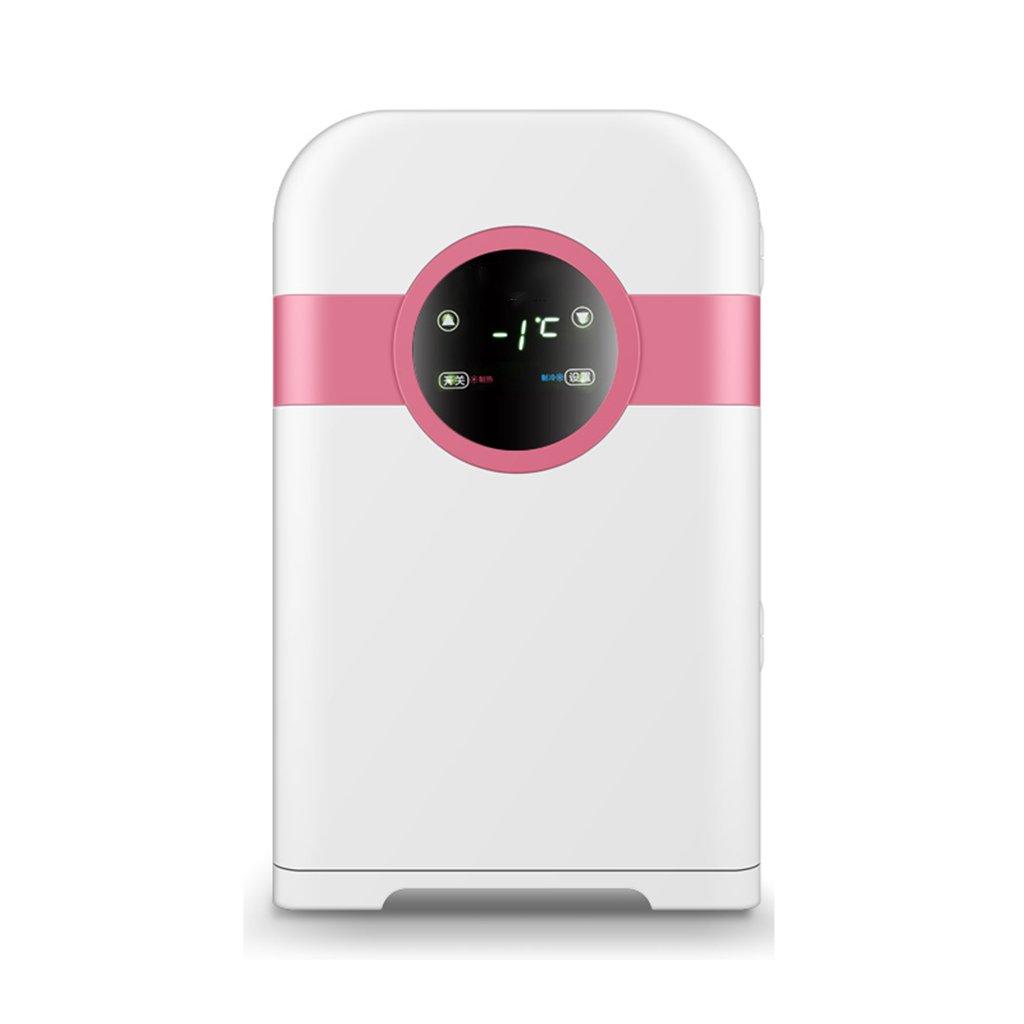 22L車の冷蔵庫ミニホームシングルドアデュアルコア冷却暖房スモールオフィスデジタルディスプレイスクリーン大容量,Pink  Pink B07DVP3MMV