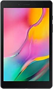 "Samsung Galaxy Tab A 8.0"" (2019, WiFi + Cellular) 32GB, 5100mAh Battery, 4G LTE Tablet & Phone (Makes Calls) GSM Unlocked SM-T295, International Model (32 GB, Black)"