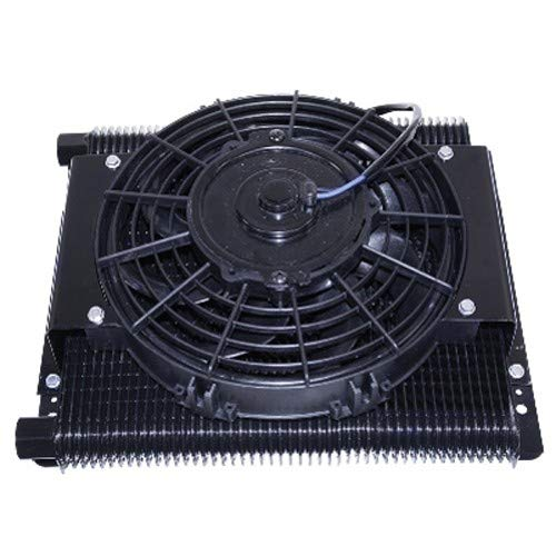 EMPI Competition 96 Plate Oil Cooler & Electric Fan Kit, Compatible With Bug, Rat Rod, Buggy, 9293