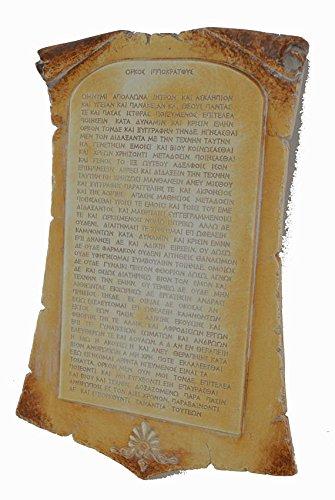 Estia Creations Juramento de Hip/ócrates Escultura Juramento hipocr/ático Tablet en la Antigua Grecia