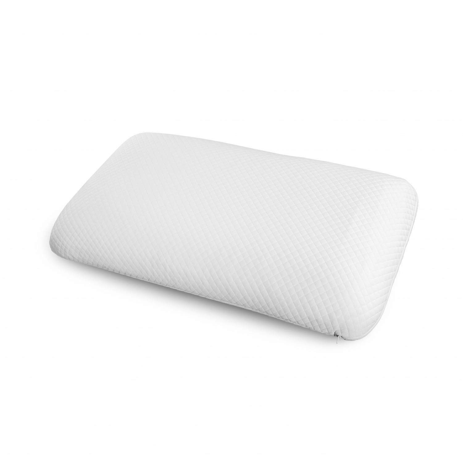 Ambesonne Shredded Memory Foam Pillow and Cover, Non Reclaimed Comfortable Padding Orthopedic and Healthy Hotel Quality Comfortable Easy to Clean Decorative Pillowcase, 30'' X 20'' X 5.5, White