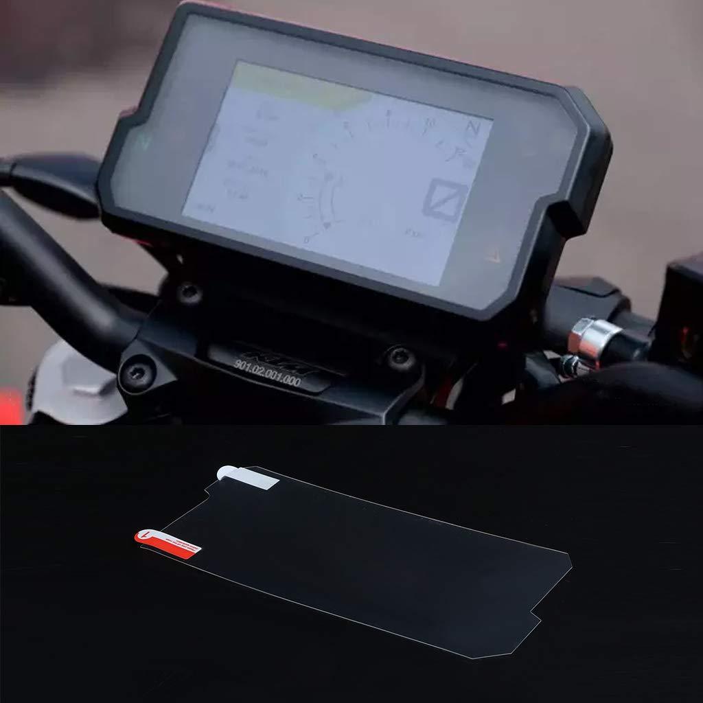 planuuik 2 Set Protector de pel/ícula Protectora de Pantalla de cl/úster rasgu/ño Cluster para KTM Duke 390 D U K E 2017 2018