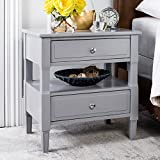 Safavieh FOX6277C Jenson Night Stand, Normal, Gray