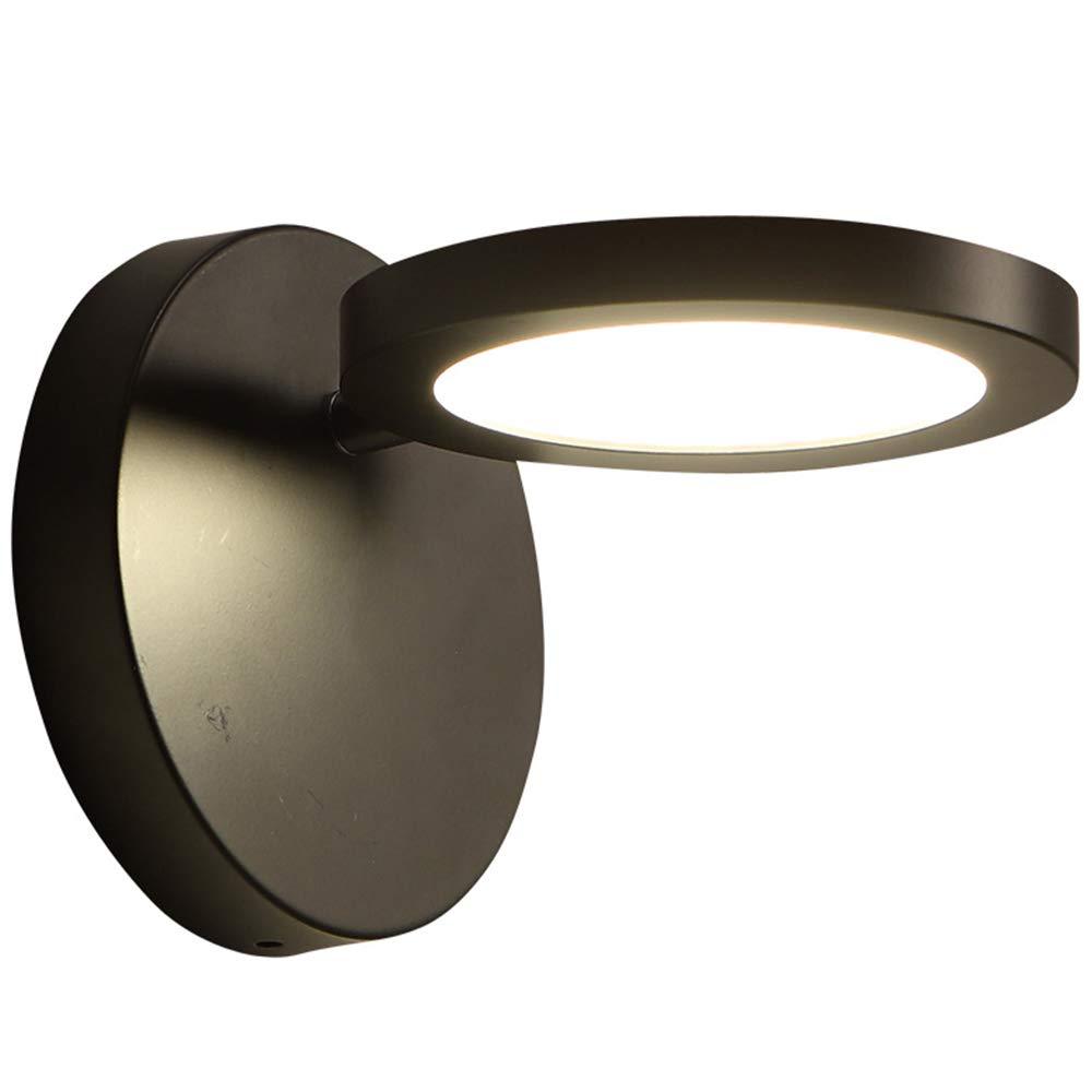 GXY Nordic Moderne Wandleuchte schwarz schmiedeeisen Wandleuchte Schlafzimmer Wohnzimmer esszimmer Bett Spiegel arbeitszimmer Lampe led Patch lichtquelle (Produkt mit lichtquelle) Wandlampe