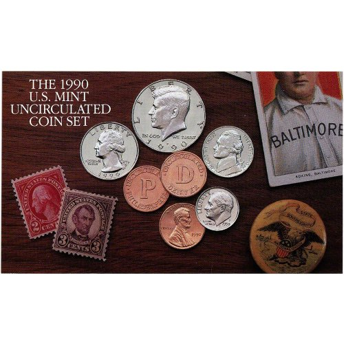 1990 United States Mint Uncirculated Coin Set (U90) in Original Government  Packaging