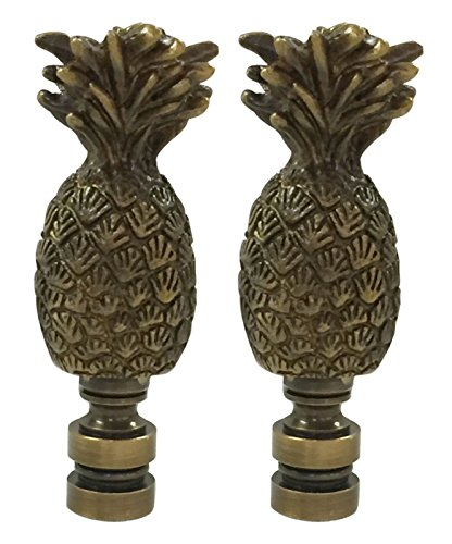 Royal Designs F-5004AB-2 Trendy Resort Pineapple Finial for