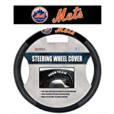 Fremont Die MLB New York Mets Poly-Suede Steering Wheel Cover