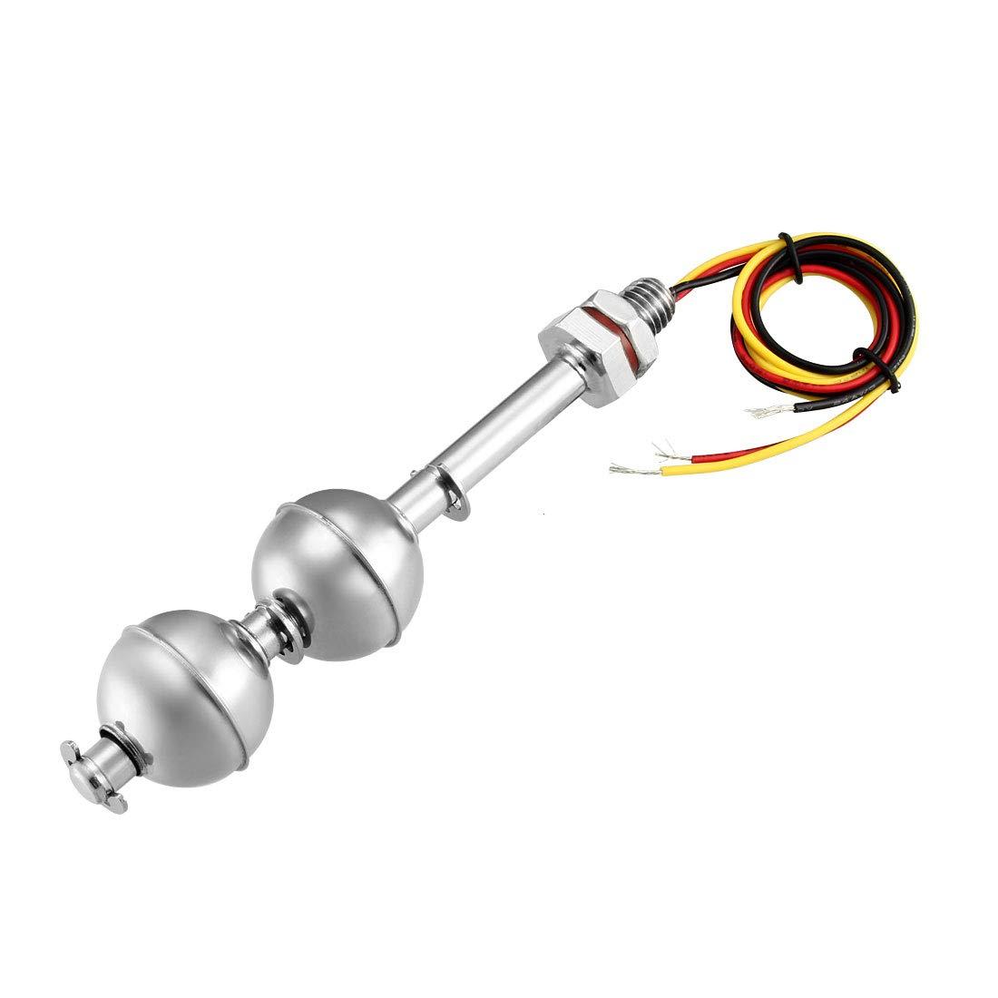 Capteur de niveau d'eau flotteur Double Boules en acier inoxydable interrupteur flottant Sourcingmap a12070600ux0093
