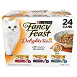 fancy feast cat food grilled - Purina Fancy Feast Delights with Cheddar Grilled Gourmet Wet Cat Food - (24) 3 oz. Cans (Cheddar Grilled Varieties 1 Pack of 24)
