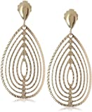 14k Yellow Gold Italian Cutout Teardrop Dangle Earrings