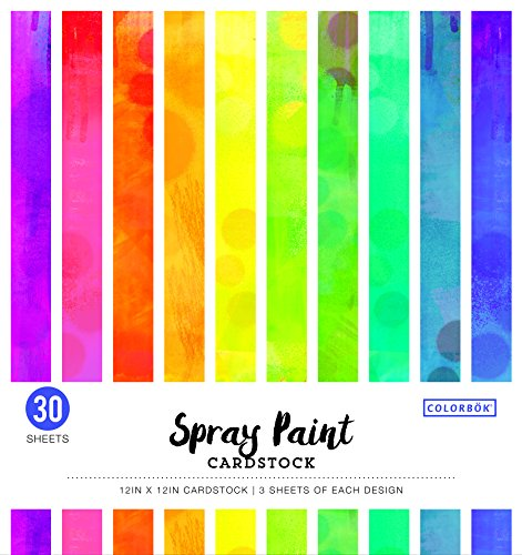 """Colorbok Spray Paint Cardstock Paper Pad 12"""" x 12"""" by Colorbok"""