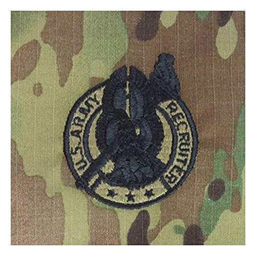 Sew-on Multicam OCP Black Recruiter Badge Patch