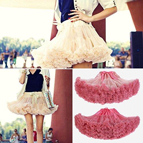 Princesse Petticoat 40cm Lightyellow Mesh Tutu FOLOBE Bouffe Jupe Fluffy Femmes 16in Pettiskirts OxqRxtwB7