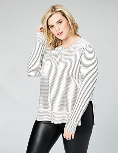 Daily Ritual Women's Terry Cotton and Modal Pullover With Side Cutouts