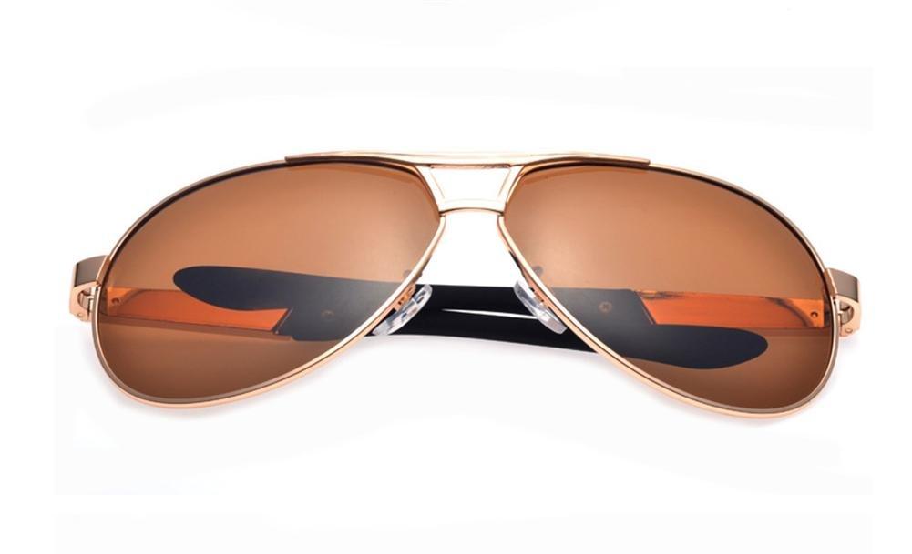HETAO personalidad Los nuevos hombres Polarized gafas de sol de gran marco , gold frame brown Vidrios decorativos wexe.com
