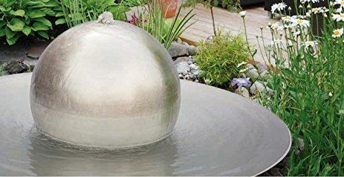 gartenmetall Brunnen de Bola de Acero Inoxidable Tonga