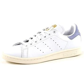 separation shoes 42245 241b4 adidas Stan Smith W Chaussures de Fitness Femme, Blanc Ftwbla Azutiz 000, 41