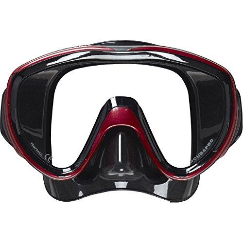 Scubapro Flux Twin Dive Mask- Metallic Red - Black Skirt