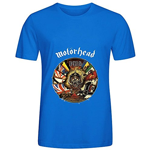 Motorhead 1916 Electronica Mens Team Neck Short Sleeve Shirts Blue