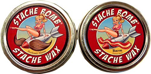 Stache Bomb Stache Wax- Moustache Wax From Maine- Twin Pack 2 tin bundle by Stache Bomb