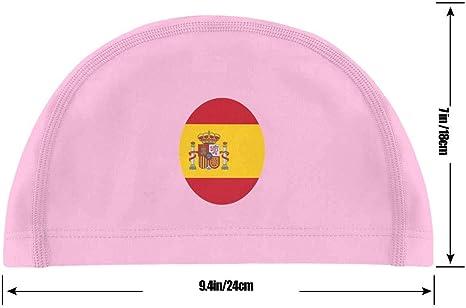 Gorro de baño, bandera de España. Gorra de natación con bandera redonda de España para hombres y mujeres - Gorros de natación frescos Protección UV impermeable Baño de PU: Amazon.es: Belleza