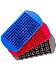 Dolland Ice Cube Tray Mini Ice Cubes Tray Silicone Cubes Ice Tray ice lattice small Cubes160 Molds for Kitchen Bar Party Drinks Color random