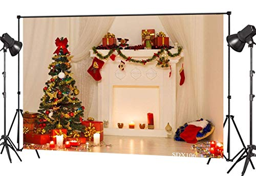 LB 7X5ft Christmas Tree Vinyl Photography Backdrop Customized Photo Background Studio Prop SDX106 -