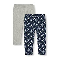 The Children's Place Big Girls' Leggings (Pack of 2), Tidal 6353, M (7/8)