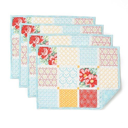 Diamond Patchwork - The Pioneer Woman Diamond Patchwork Placemat, Pack of 4, 14 in X 19 in