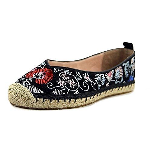 Avec Les Filles Womens Gisella Closed Toe Espadrille, Black/Floral, Size 6.5