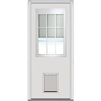 National Door Company ZA00223 Steel, Primed, Left Hand Inswing, Exterior  Prehung Door,