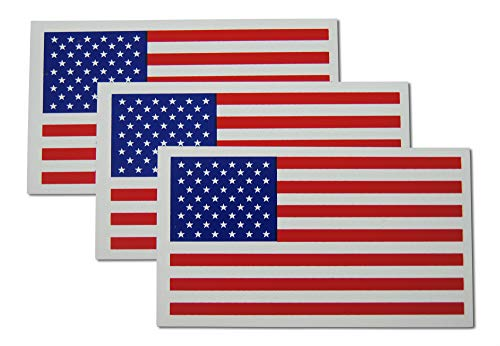 Flag Refrigerator Magnet - Small American Flag Patriotic Military Magnets Set includes Three Mini Rectangles in Classic Red, White, Blue US Design (3 Pieces)