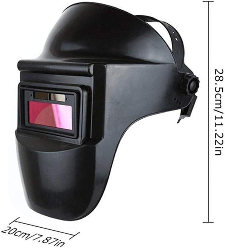 Scelet Capuchon r/églable de Soudeur dombre de Masque de Casque de Soudure fonctionnant /à l/énergie Solaire pour l/équipement de Soudure