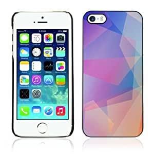 Designer Depo Hard Protection Case for Apple iPhone 5 5S / Cool Abstract Pastel Pattern