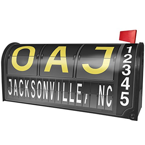- NEONBLOND OAJ Airport Code Jacksonville, NC Magnetic Mailbox Cover Custom Numbers