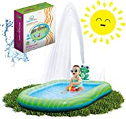 Splashin'kids 3 in 1 Sprinkler Pool for Toddlers Babies Infants Children Outdoor Toy for 1 2 3 4 5 Year